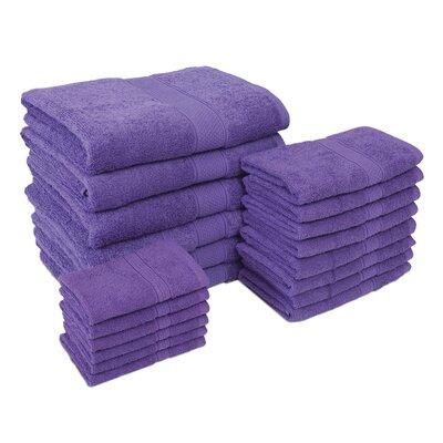 Jumbo 20 Piece Towel Set Color: Purple