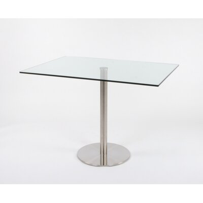 Schroeders Pedestal Glass Dining Table