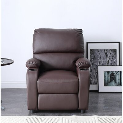 Peckham Manual Recliner Color: Brown