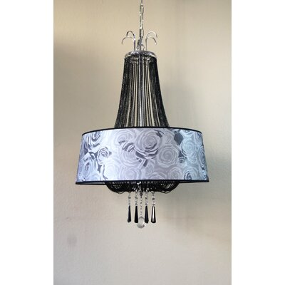 Melitta 4-Light Drum Chandelier