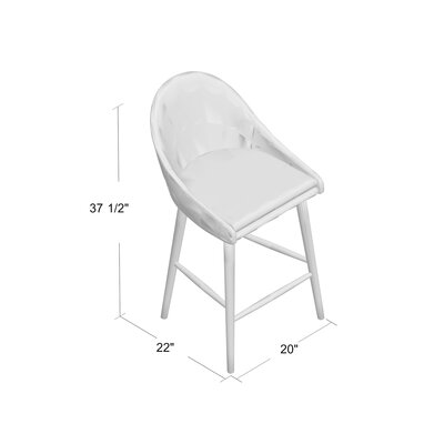 Prism 24 Swivel Bar Stool Finish: Natural, Upholstery: Gray