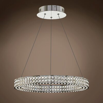 Lewandowski Ring 1-Light Crystal Pendant