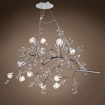 Barnhart 12-Light Chandelier Finish: Chrome