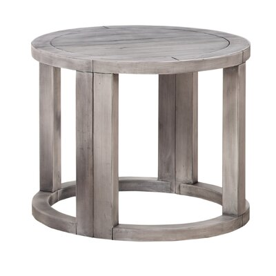 Howze Solid Wood Half Moon End Table