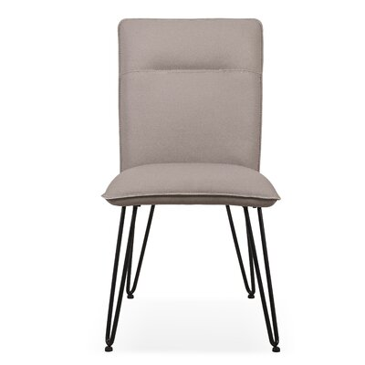 Greaney Upholstered Dining Chair (Set of 2) Upholstery Color: Taupe