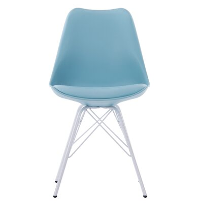Goshorn Modern Upholstered Dining Chair Upholstery Color: Blue
