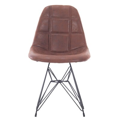 Goshorn Modern Upholstered Dining Chair Upholstery Color: Brown