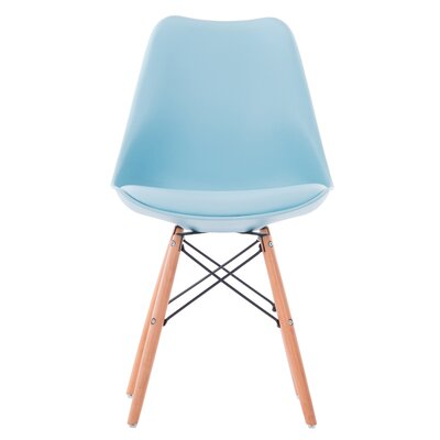 Clarion Modern Upholstered Dining Chair Upholstery Color: Blue