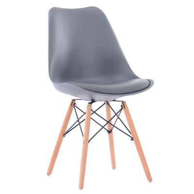 Clarion Modern Upholstered Dining Chair Upholstery Color: Gray