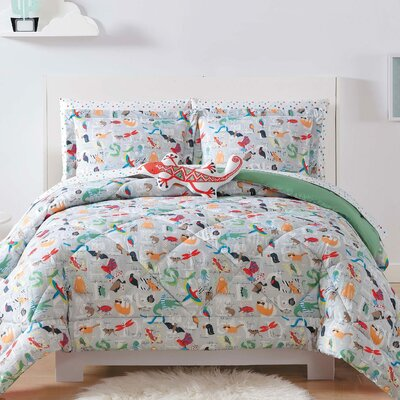 Hampson Animal Alphabet Sheet Set Size: Queen