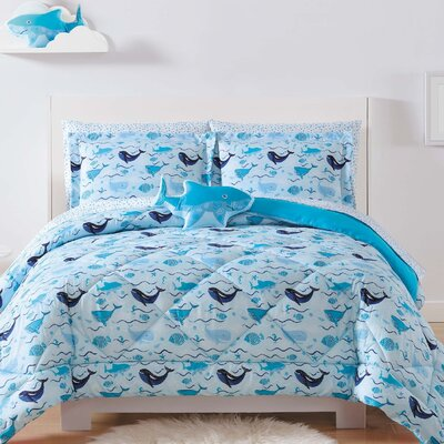 Holmberg Deep Blue Sea Sheet Set Size: Twin