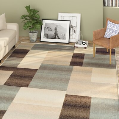 Svetlana Light Blue/Brown Area Rug Rug Size: Rectangle 4 x 6