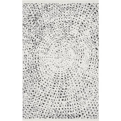 Penwell White/Black Area Rug Rug Size: Rectangle 311 x 511
