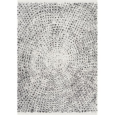Penwell White/Black Area Rug Rug Size: Rectangle 710 x 106