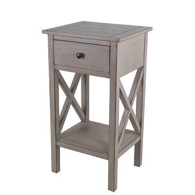 Kildollagh 1 Drawer End Table with Storage Color: Oyster