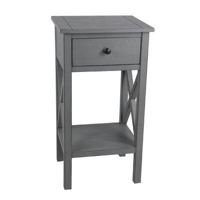 Kildollagh 1 Drawer End Table with Storage Color: Vendee Gray