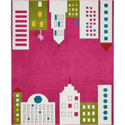 Chunn Pink Area Rug Rug Size: Rectangle 8 x 10