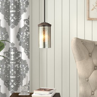 Doris 1-Light Mini Pendant Shade Color: Caf�