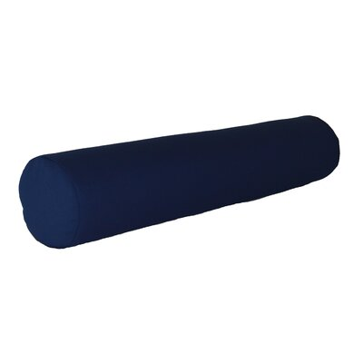 Escamilla Acrylic Bolster Pillow Color: Navy Blue, Size: 7 H x 36 W