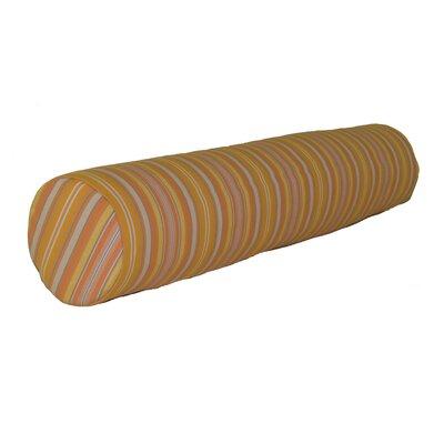 Escamilla Acrylic Bolster Pillow Color: Orange Stripe, Size: 7 H x 36 W