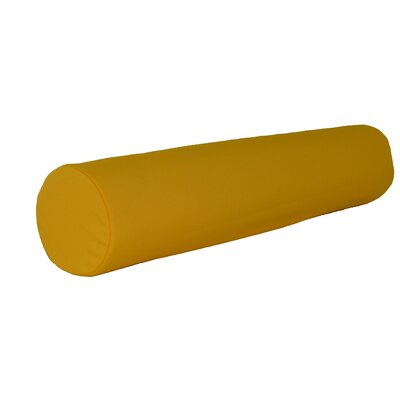 Escamilla Acrylic Bolster Pillow Color: Yellow, Size: 7 H x 36 W