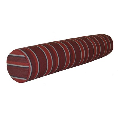 Escamilla Acrylic Bolster Pillow Color: Red Stripe, Size: 7 H x 36 W