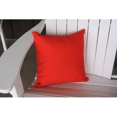 Escamilla Acrylic Throw Pillow Color: Red, Size: 15 H x 15 W