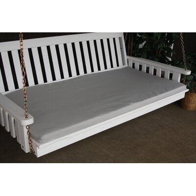 """Image of Indoor/Outdoor Bench Cushion Size: 55"""" W x 39"""" D, Fabric: Gray"""