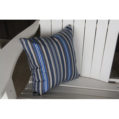 Escamilla Acrylic Throw Pillow Color: Blue Stripe, Size: 15 H x 15 W