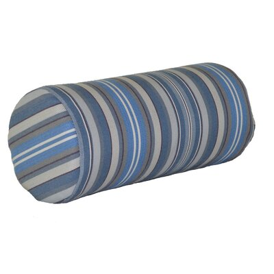Escamilla Acrylic Bolster Pillow Color: Blue Stripe, Size: 7 H x 18 W