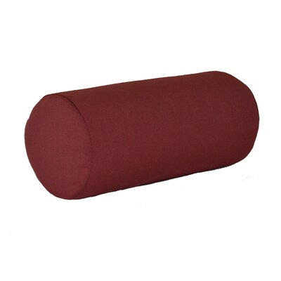 Escamilla Acrylic Bolster Pillow Color: Burgundy, Size: 7 H x 18 W