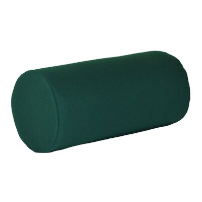 Escamilla Acrylic Bolster Pillow Color: Forest Green, Size: 7 H x 18 W