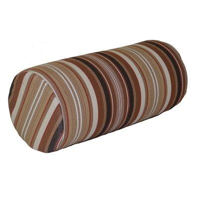 Escamilla Acrylic Bolster Pillow Color: Maroon Stripe, Size: 7 H x 18 W