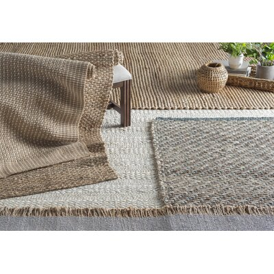 Monagra Handmade Natural/Ivory Natural Fiber Area Rug Rug Size: Rectangle 8 x 10