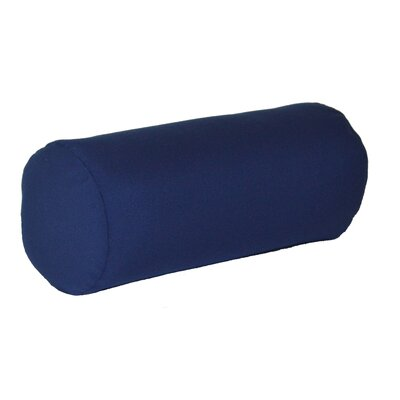 Escamilla Acrylic Bolster Pillow Color: Navy Blue, Size: 7 H x 18 W
