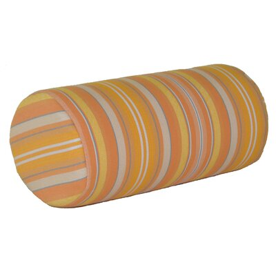 Escamilla Acrylic Bolster Pillow Color: Orange Stripe, Size: 7 H x 18 W