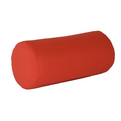 Escamilla Acrylic Bolster Pillow Color: Red, Size: 7 H x 18 W
