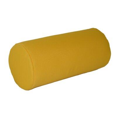 Escamilla Acrylic Bolster Pillow Color: Yellow, Size: 7 H x 18 W