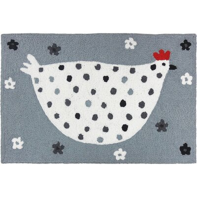 Mcglynn Cool Chick Hand-Tufted White/Gray Indoor/Outdoor Area Rug