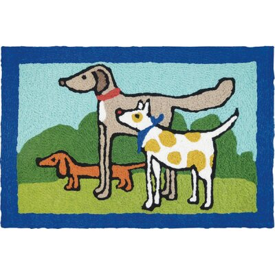 Beare Proper Pals Hand-Tufted Blue/Green/Gray Indoor/Outdoor Area Rug