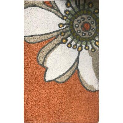 Bearfield Sensational Sunflower Hand-Tufted Orange/Gray Indoor/Outdoor Area Rug