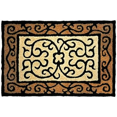 Castellon Hand-Tufted Brown/Black Indoor/Outdoor Area Rug Rug Size: Rectangle 19 x 29
