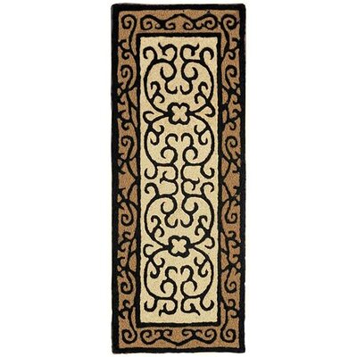 Castellon Hand-Tufted Brown/Black Indoor/Outdoor Area Rug Rug Size: Runner 19 x 46
