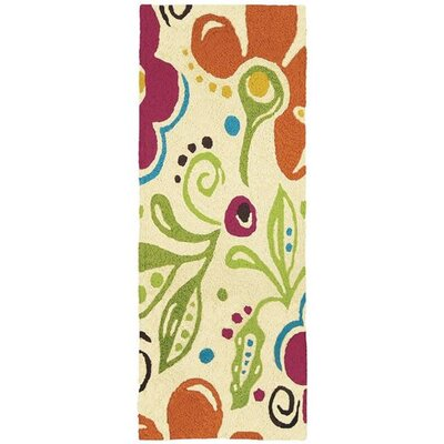 Beaufort Fab Floral Hand-Tufted Yellow/Green Indoor/Outdoor Area Rug