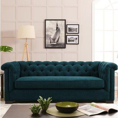 Hoopes Sofa Upholstery: Peacock Blue