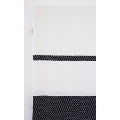 Fouta Beach Towel Color: White/Black