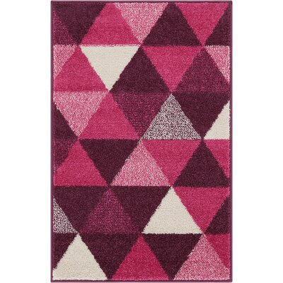 Dumas Geometric Triangle Purple Area Rug Rug Size: Rectangle 2 x 3