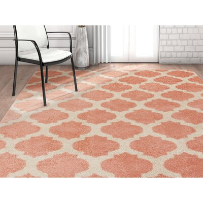 Rubino Trellis Lattice Geo Blush Area Rug Rug Size: Rectangle 710 x 910
