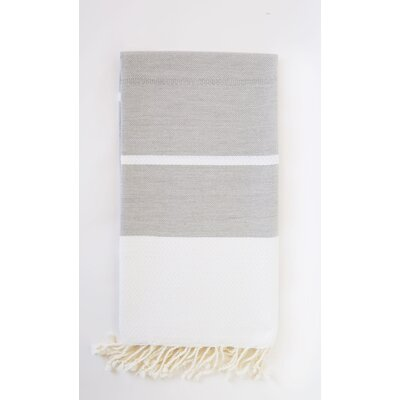 Fouta Beach Towel Color: Gray/White