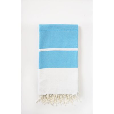 Fouta Beach Towel Color: Turquoise/White